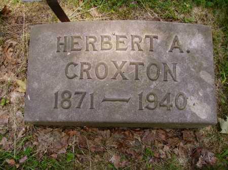 CROXTON, HERBERT A. - Stark County, Ohio   HERBERT A. CROXTON - Ohio Gravestone Photos
