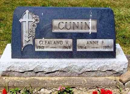 CUNIN, CLEALAND V. - Stark County, Ohio | CLEALAND V. CUNIN - Ohio Gravestone Photos