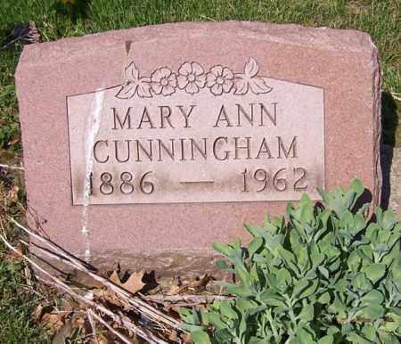 CUNNINGHAM, MARY ANN - Stark County, Ohio | MARY ANN CUNNINGHAM - Ohio Gravestone Photos