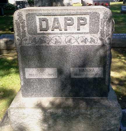 DAPP, HANNA - Stark County, Ohio | HANNA DAPP - Ohio Gravestone Photos
