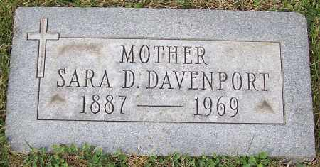 DAVENPORT, SARA D. - Stark County, Ohio | SARA D. DAVENPORT - Ohio Gravestone Photos