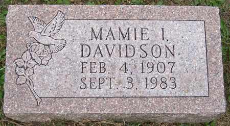 DAVIDSON, MAMIE I. - Stark County, Ohio   MAMIE I. DAVIDSON - Ohio Gravestone Photos