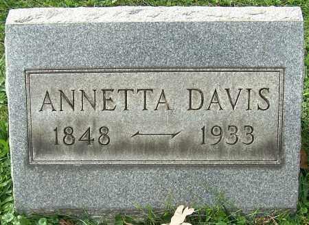 DAVIS, ANNETTA - Stark County, Ohio | ANNETTA DAVIS - Ohio Gravestone Photos