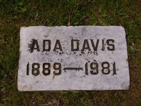 DAVIS, ADA - Stark County, Ohio   ADA DAVIS - Ohio Gravestone Photos