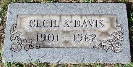 DAVIS, CECIL K. - Stark County, Ohio   CECIL K. DAVIS - Ohio Gravestone Photos