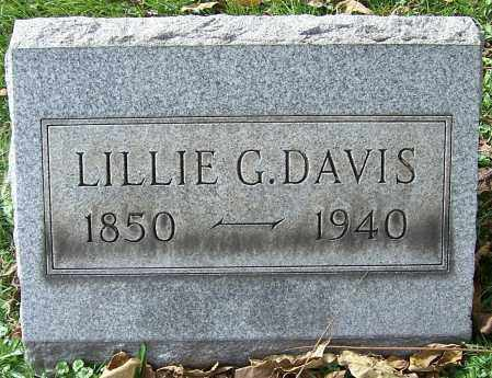 DAVIS, LILLIE G. - Stark County, Ohio   LILLIE G. DAVIS - Ohio Gravestone Photos