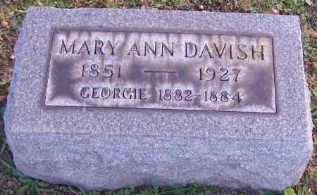 DAVISH, MARY ANN - Stark County, Ohio | MARY ANN DAVISH - Ohio Gravestone Photos