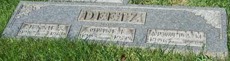 DEETZ, JENNIE S. - Stark County, Ohio | JENNIE S. DEETZ - Ohio Gravestone Photos