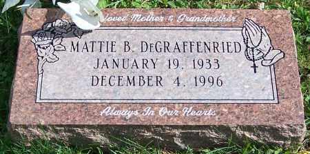 DEGRAFFENRIED, MATTIE B. - Stark County, Ohio | MATTIE B. DEGRAFFENRIED - Ohio Gravestone Photos