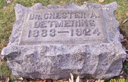 DETMERING, DR. CHESTER A. - Stark County, Ohio | DR. CHESTER A. DETMERING - Ohio Gravestone Photos