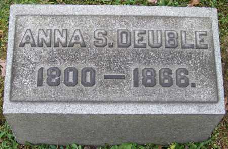DEUBLE, ANNA S. - Stark County, Ohio   ANNA S. DEUBLE - Ohio Gravestone Photos