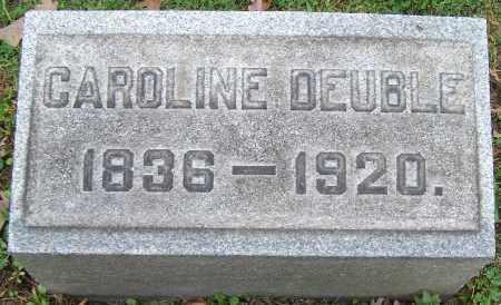 DEUBLE, CAROLINE - Stark County, Ohio   CAROLINE DEUBLE - Ohio Gravestone Photos