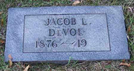 DEVOE, JACOB L. - Stark County, Ohio | JACOB L. DEVOE - Ohio Gravestone Photos