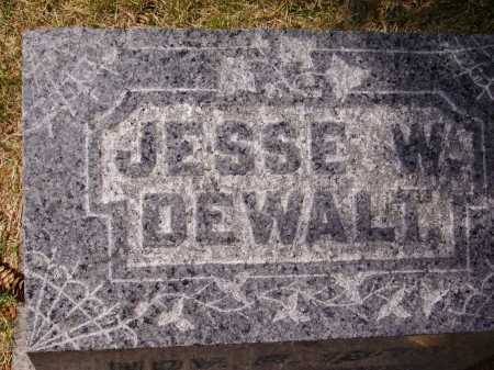 DEWALT, JESSE W. - TOP VIEW - Stark County, Ohio | JESSE W. - TOP VIEW DEWALT - Ohio Gravestone Photos