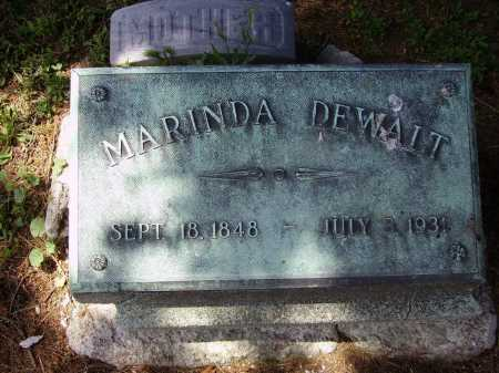 DEWALT, MARINDA - Stark County, Ohio   MARINDA DEWALT - Ohio Gravestone Photos