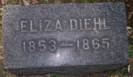 DIEHL, ELIZA - Stark County, Ohio | ELIZA DIEHL - Ohio Gravestone Photos