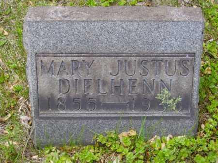 DIELHENN, MARY JUSTUS - Stark County, Ohio | MARY JUSTUS DIELHENN - Ohio Gravestone Photos