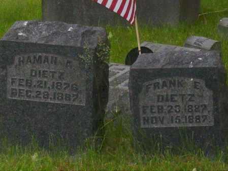 DIETZ, HAMAN A. - Stark County, Ohio | HAMAN A. DIETZ - Ohio Gravestone Photos