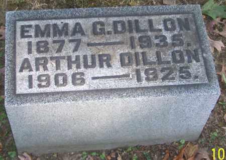 DILLON, EMMA G. - Stark County, Ohio   EMMA G. DILLON - Ohio Gravestone Photos