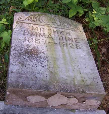 DINE, EMMA - Stark County, Ohio   EMMA DINE - Ohio Gravestone Photos