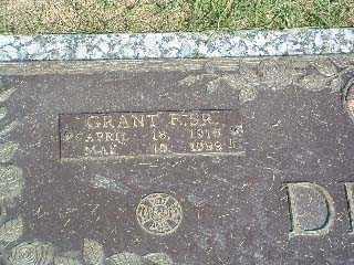 DITCH, GRANT F. SR. - Stark County, Ohio | GRANT F. SR. DITCH - Ohio Gravestone Photos