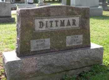 DITTMAR, MARY - Stark County, Ohio | MARY DITTMAR - Ohio Gravestone Photos