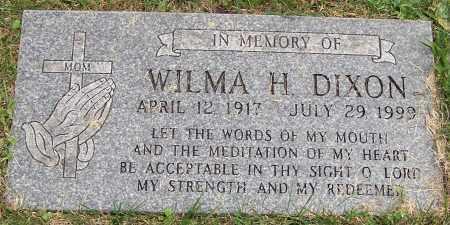 DIXON, WILMA H. - Stark County, Ohio   WILMA H. DIXON - Ohio Gravestone Photos