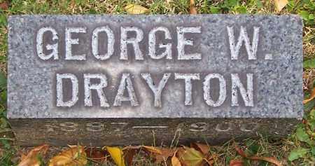 DRAYTON, GEORGE W. - Stark County, Ohio | GEORGE W. DRAYTON - Ohio Gravestone Photos