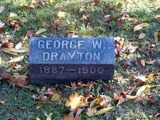 DRAYTON, GEORGE WASHINGTON - Stark County, Ohio | GEORGE WASHINGTON DRAYTON - Ohio Gravestone Photos