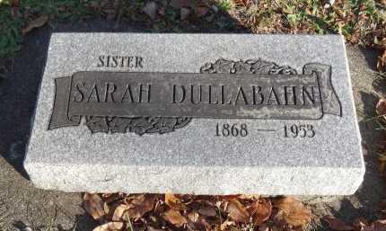 DULLABAHN, SARAH - Stark County, Ohio | SARAH DULLABAHN - Ohio Gravestone Photos