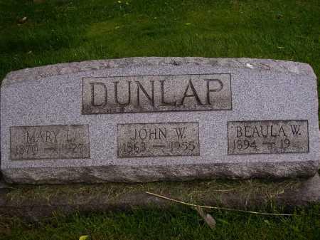 DUNLAP, BEAULA W. - Stark County, Ohio   BEAULA W. DUNLAP - Ohio Gravestone Photos
