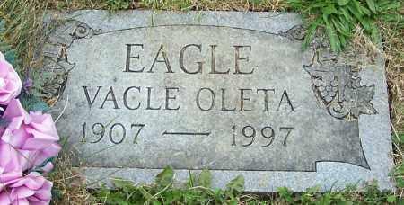EAGLE, VACLE OLETA - Stark County, Ohio   VACLE OLETA EAGLE - Ohio Gravestone Photos
