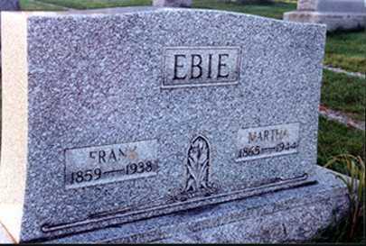 KINSLEY EBIE, MARTHA - Stark County, Ohio | MARTHA KINSLEY EBIE - Ohio Gravestone Photos