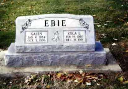 EBIE, ZOLA LUCILLE - Stark County, Ohio   ZOLA LUCILLE EBIE - Ohio Gravestone Photos