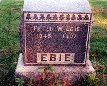 EBIE, PETER W. - Stark County, Ohio | PETER W. EBIE - Ohio Gravestone Photos