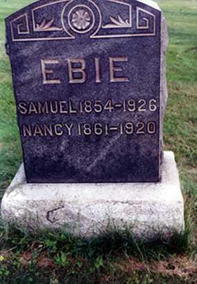 EBIE, SAMUEL R. - Stark County, Ohio | SAMUEL R. EBIE - Ohio Gravestone Photos