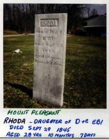 EBY, RHODA - Stark County, Ohio   RHODA EBY - Ohio Gravestone Photos