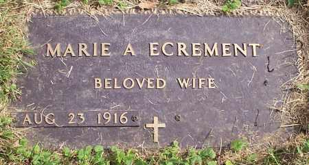 ECREMENT, MARIE A. - Stark County, Ohio   MARIE A. ECREMENT - Ohio Gravestone Photos