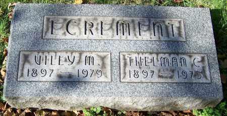 ECREMENT, VILEY M. - Stark County, Ohio | VILEY M. ECREMENT - Ohio Gravestone Photos