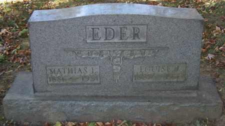 EDER, LOUISE J. - Stark County, Ohio | LOUISE J. EDER - Ohio Gravestone Photos