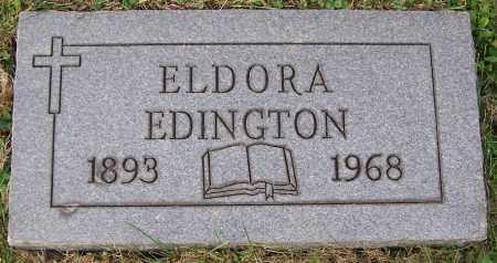 EDINGTON, ELDORA - Stark County, Ohio   ELDORA EDINGTON - Ohio Gravestone Photos