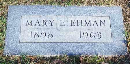 EHMAN, MARY E. - Stark County, Ohio   MARY E. EHMAN - Ohio Gravestone Photos