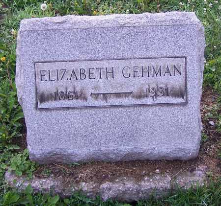 ELIZABETH, GEHMAN - Stark County, Ohio   GEHMAN ELIZABETH - Ohio Gravestone Photos
