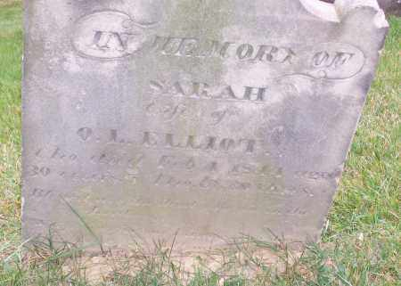ELLIOT, SARAH - CLOSE VIEW - Stark County, Ohio | SARAH - CLOSE VIEW ELLIOT - Ohio Gravestone Photos