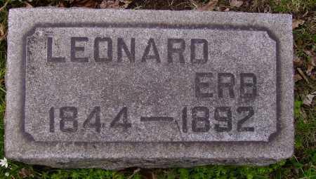 ERB, LEONARD - Stark County, Ohio   LEONARD ERB - Ohio Gravestone Photos