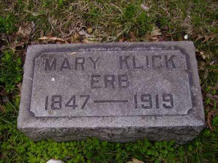 ERB, MARY KLICK - Stark County, Ohio | MARY KLICK ERB - Ohio Gravestone Photos