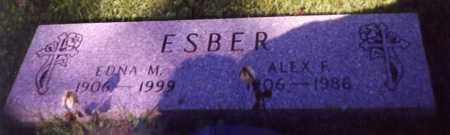 ESBER, ALEX F. - Stark County, Ohio | ALEX F. ESBER - Ohio Gravestone Photos