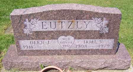 EUTZLY, IRMA V. - Stark County, Ohio | IRMA V. EUTZLY - Ohio Gravestone Photos