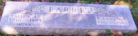 FARRIS, MACK A. - Stark County, Ohio   MACK A. FARRIS - Ohio Gravestone Photos