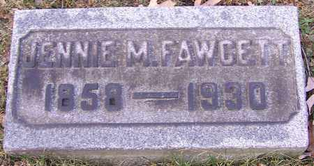 FAWCETT, JENNIE M. - Stark County, Ohio | JENNIE M. FAWCETT - Ohio Gravestone Photos